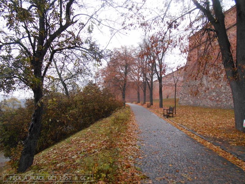 Brno, park around Špilberk Castle