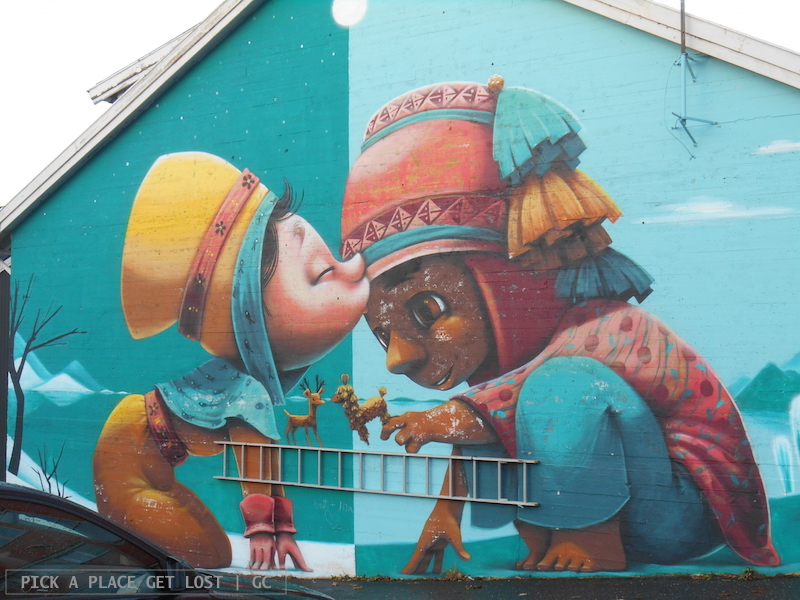 Bodø street art. Animalito, A Kiss Between Cultures