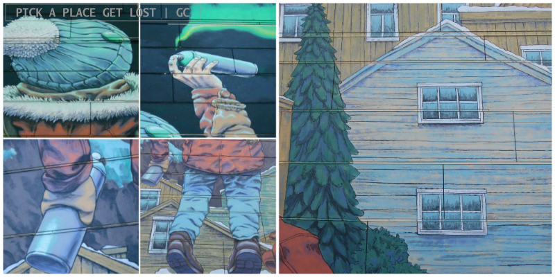 Bodø street art. Rustam QBic, After School