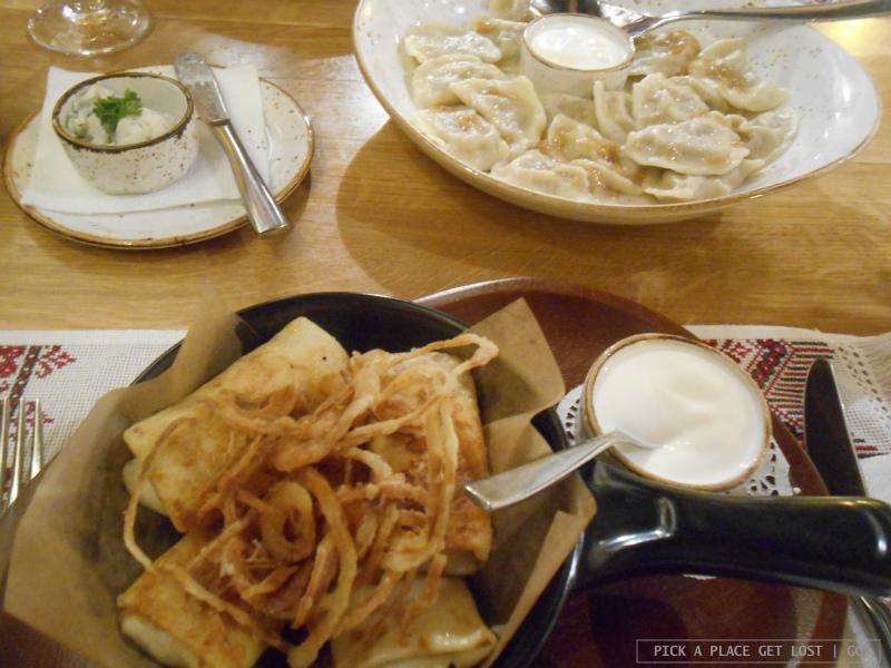 Odessa, Ukrainian food at Kumanets
