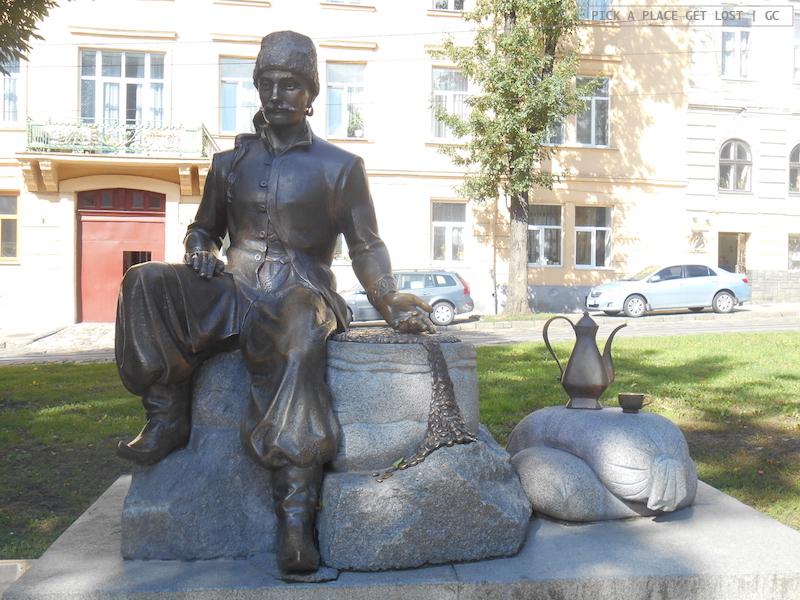Lviv, statua di Kulchytsky