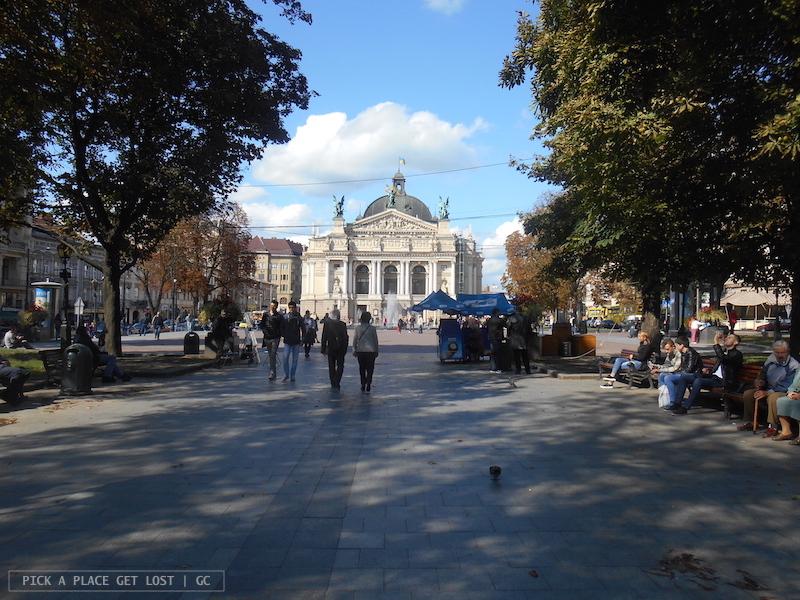 Lviv, Prospekt Svobody, Teatro Nazionale di Opera e Balletto