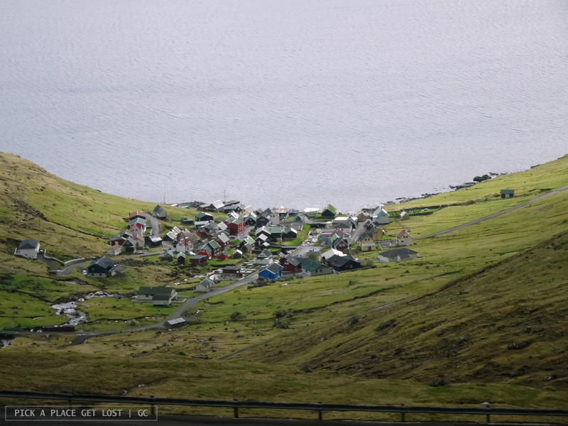 Faroe Islands. On the way to Gjógv. Funningur