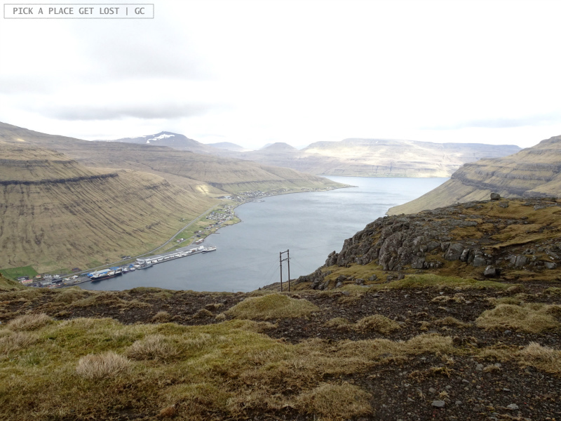 Isole Faroe. Kollafjørdur