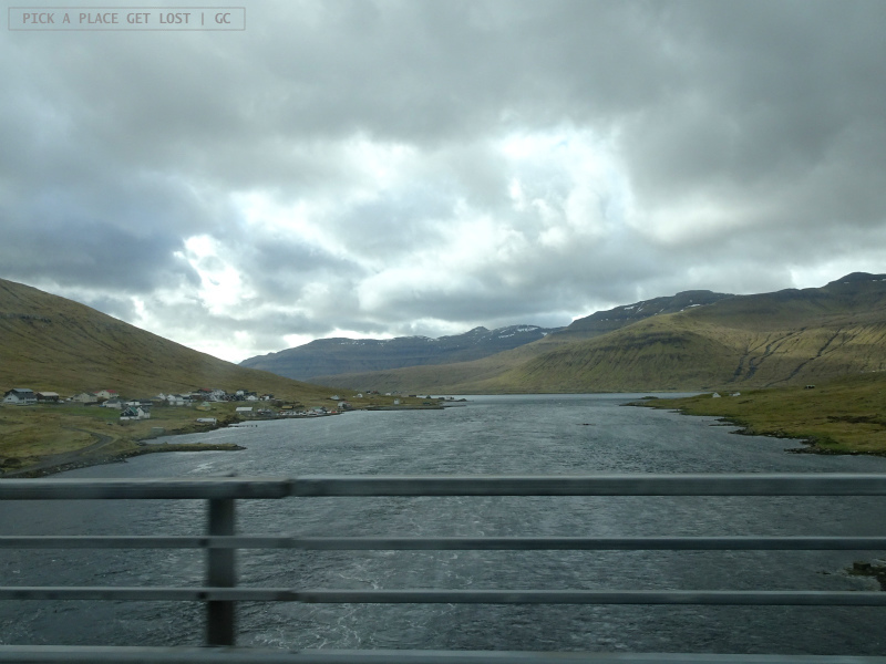 Faroe Islands. On the way to Gjógv. Bridge that connects Streymoy and Eysturoy