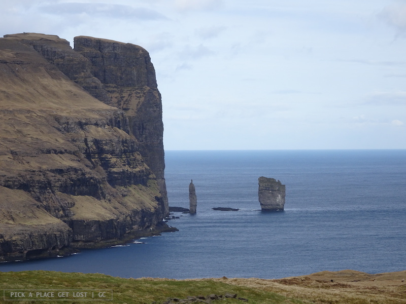 Faroe Islands. On the way to Gjógv. Risin and Kellingin
