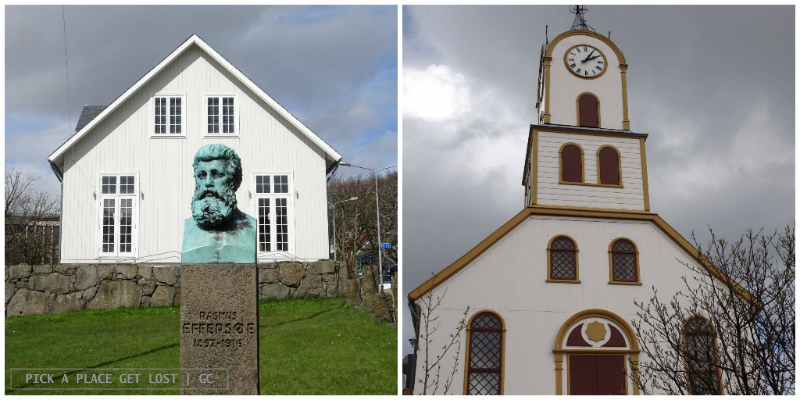 Faroe Islands. Torshavn, Parliament and Cathedral