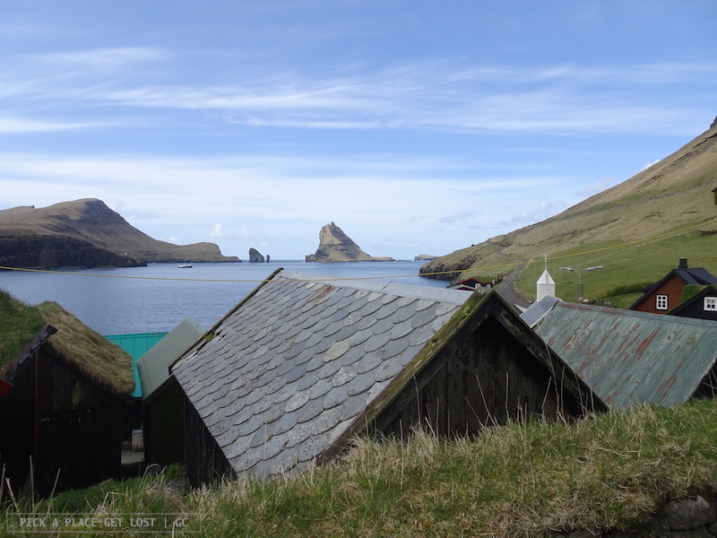 Strada verso Gásadalur. Bøur