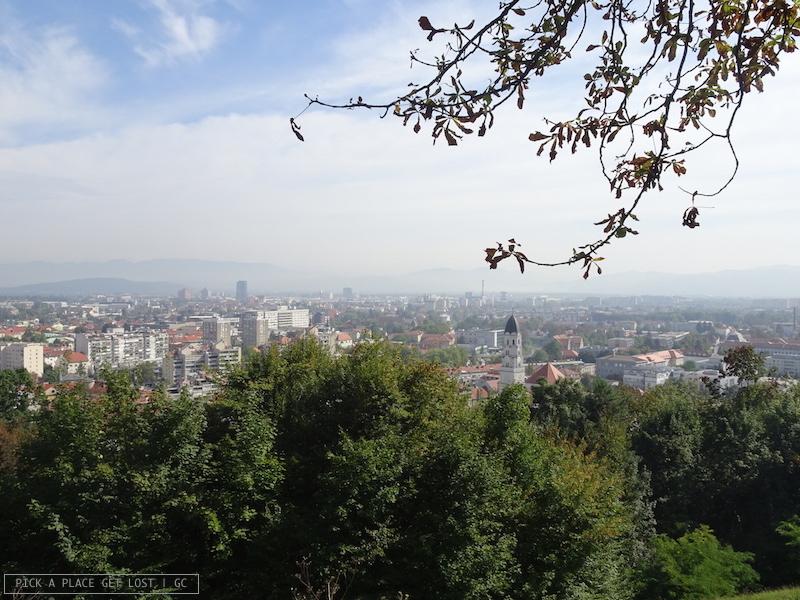 Lubiana, vista dal castello