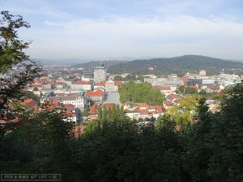 Ljubljana, Kongresni trg seen from the castle