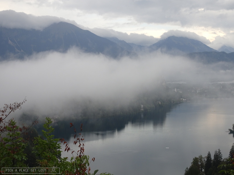 Slovenia, Bled from Ojstrica