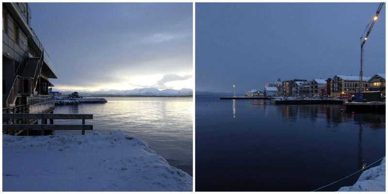 Norvegia. Molde, Promenade