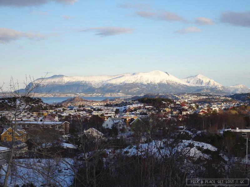Norvegia. Kristiansund, vista da Varden
