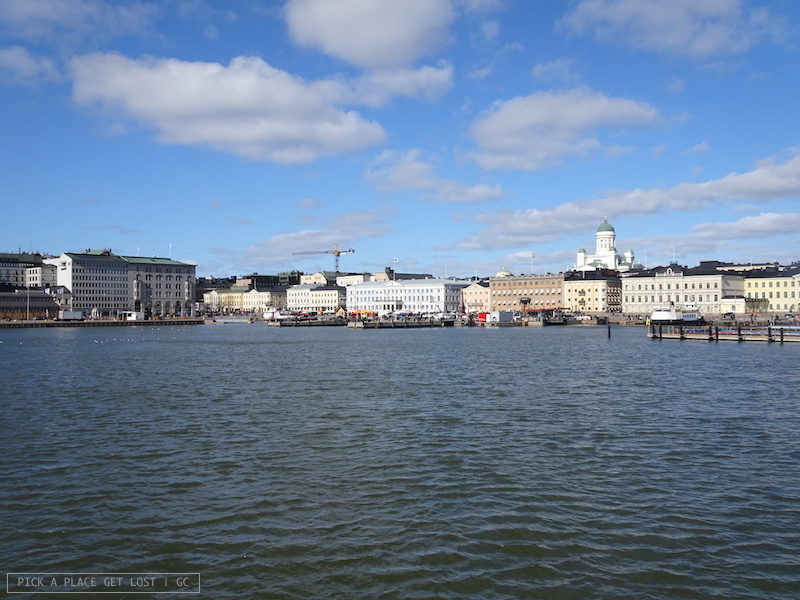 Helsinki. View from the Suomenlinna ferry