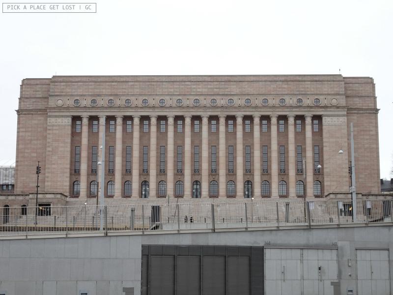 Helsinki. Palazzo del Parlamento