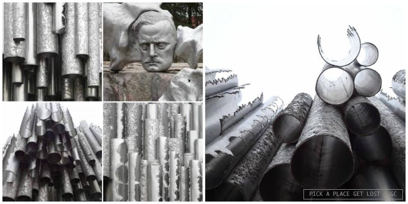 Helsinki. Monumento a Sibelius