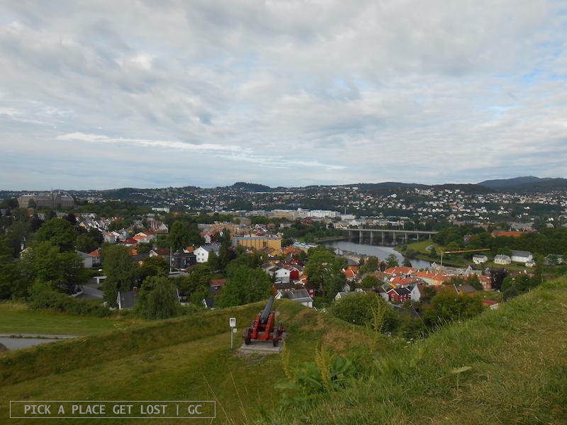 Trondheim, view from Kristiansten Festning
