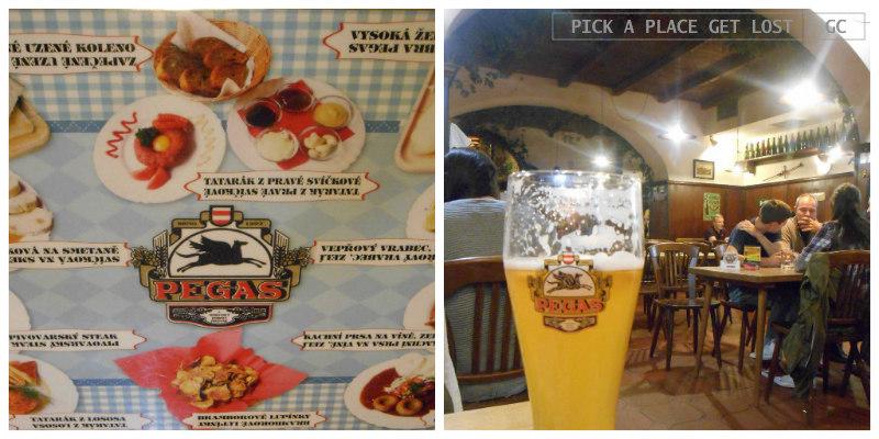 Czech food in Brno. Pegas