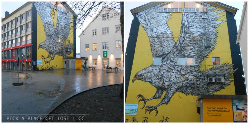 Bodø street art. Dzia, Golden Eagle