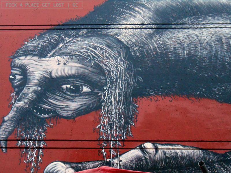 Bodø street art. Phlegm