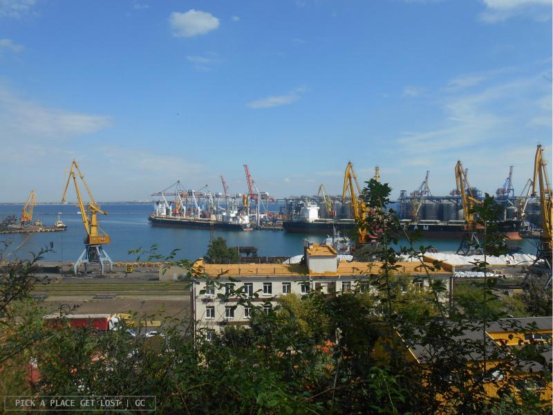Odessa, port view from Shevchenko Park