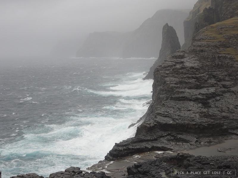 Faroe Islands, lake Sorvagsvatn or Leitisvatn