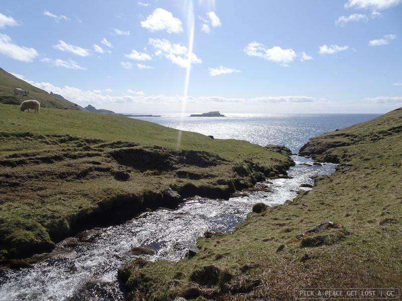 Faroe Islands. Walk to Gasadalur, Vagar