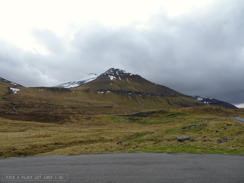 Faroe Islands. On the way to Gjógv. Slættaratindur