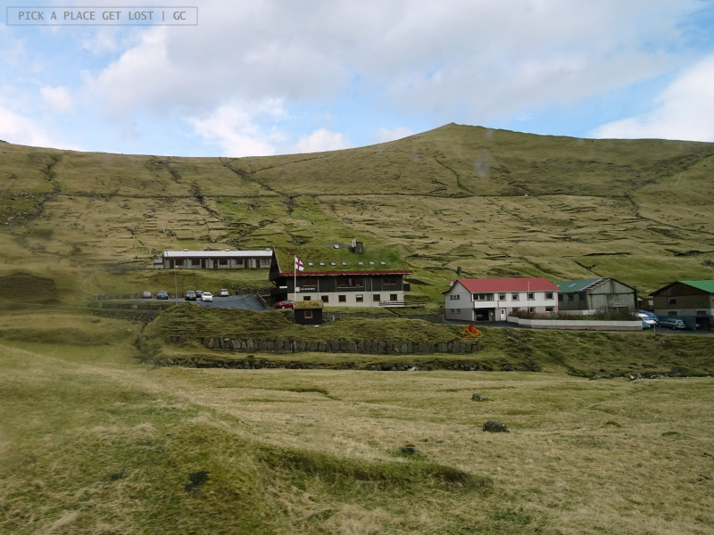 Isole Faroe. Gjógv. Pensione Gjáargarður