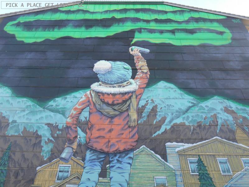 Street art a Bodø. Rustam QBic, After School
