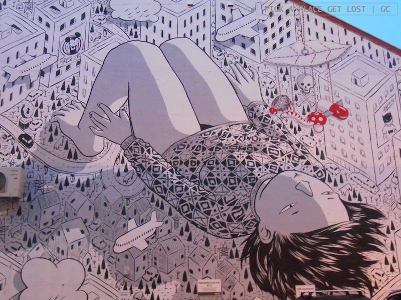 Street art a Bodø. Millo, Insomnia