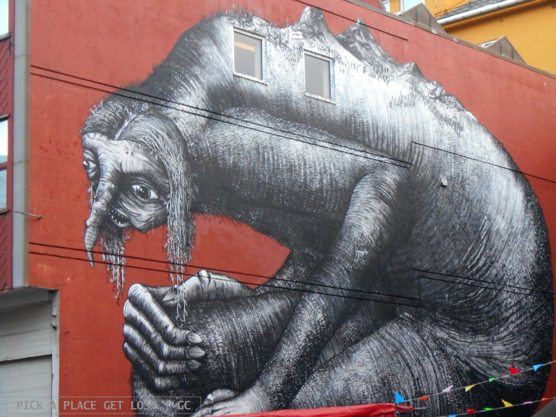 Street art a Bodø. Phlegm