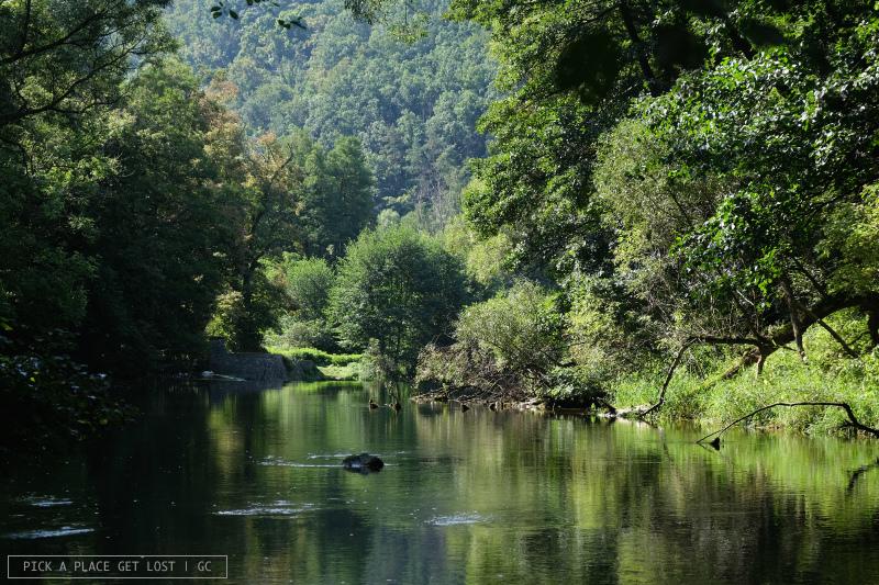 Mohelno steppe. Jihlava river